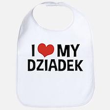 I Love My Dziadek Bib