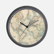 Unique Antique world map Wall Clock