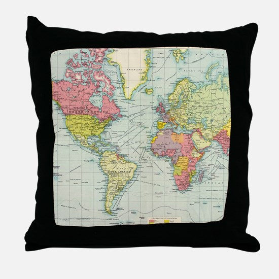 Unique Geography Throw Pillow