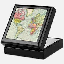 Cool Map of world Keepsake Box