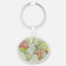 Unique Political Oval Keychain