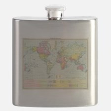 Cute Geography Flask