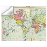 World map Wall Decals
