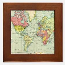Unique Map Framed Tile