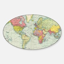 Unique Geography Sticker (Oval)