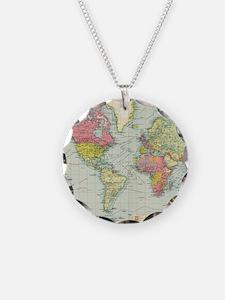 Unique World map Necklace
