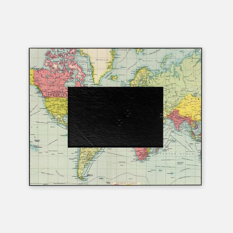 old world map picture frames old world map photo frames cafepress. Black Bedroom Furniture Sets. Home Design Ideas