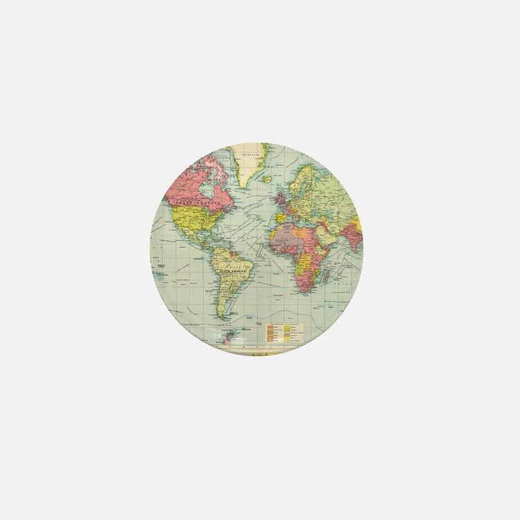 Cute World Mini Button