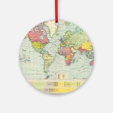 Unique Geography Round Ornament