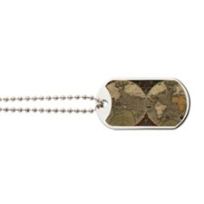 Cute Antique world map Dog Tags