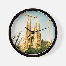 The Sagrada Familia temple with Catalon Wall Clock