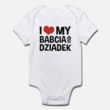 I Love My Babcia and Dziadek Infant Bodysuit