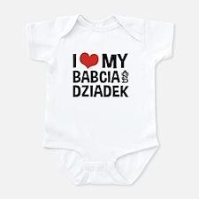I Love My Babcia and Dziadek Infant Bodysuit
