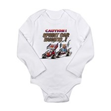 Unique Dirt track racing Long Sleeve Infant Bodysuit