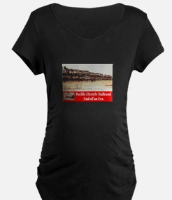 Pacific Electric Railroad Maternity T-Shirt
