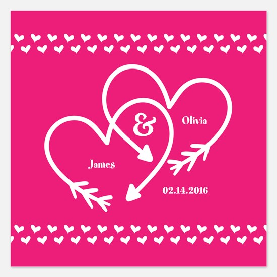 Stylish Wedding Monogram Pi Invitations