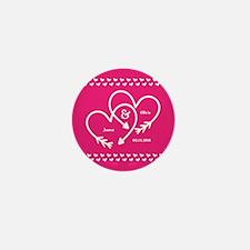 Stylish Wedding Monogram Pin Mini Button (10 pack)