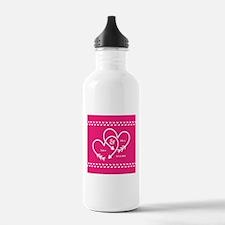 Stylish Wedding Monogr Water Bottle