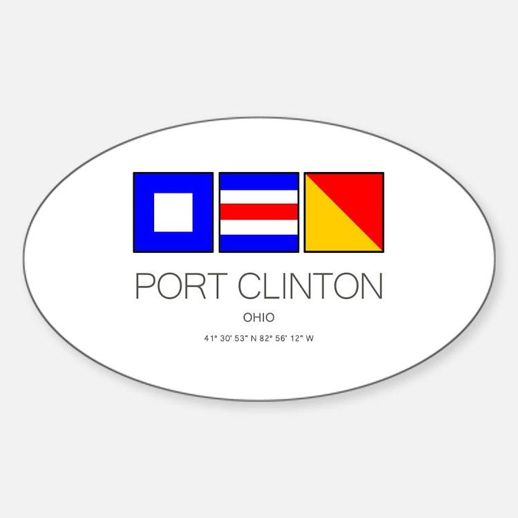 Port Clinton Nautical Flag Art Decal