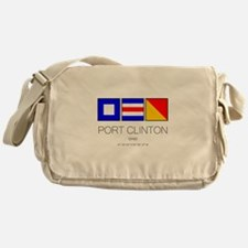 Port Clinton Nautical Flag Art Messenger Bag