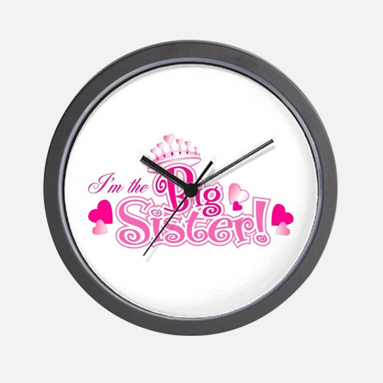 Curly Im The Big Sister Wall Clock