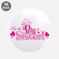 "Curly Im The Big Sister 3.5"" Button (10 pack)"