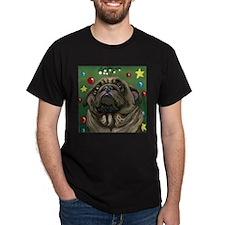 Christmas Pug Mistletoe T-Shirt