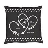 Mr mrs Burlap Pillows