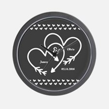 Mr. and Mrs. Wedding Customizable Gray Wall Clock