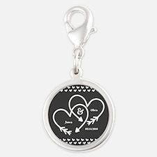 Mr. and Mrs. Wedding Customiza Silver Round Charm