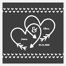 Mr. and Mrs. Wedding Custom 5.25 x 5.25 Flat Cards