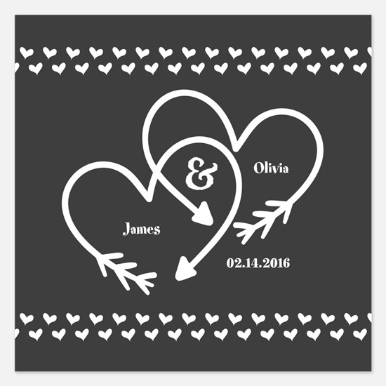 Mr. and Mrs. Wedding Custom 5.25 x 5.25 Flat Cards
