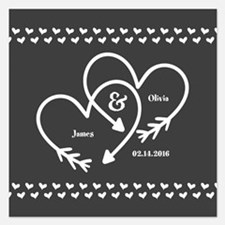 Mr. and Mrs. Wedding Custom Invitations