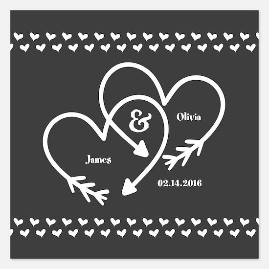 Mr. and Mrs. Wedding Custom Invitations