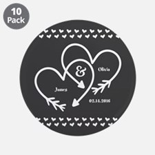 "Mr. and Mrs. Wedding Customi 3.5"" Button (10 pack)"