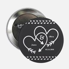 "Mr. and Mrs. Wedding Customizable Gra 2.25"" Button"