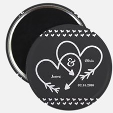 "Mr. and Mrs. Wedding Custo 2.25"" Magnet (100 pack)"