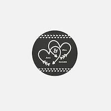 Mr. and Mrs. Wedding Customizable Gray Mini Button