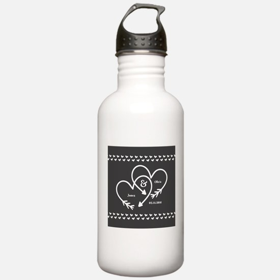 Mr. and Mrs. Wedding C Water Bottle