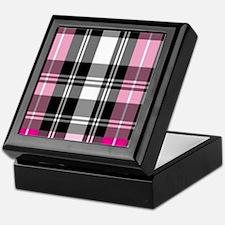 pink & black plaid Keepsake Box