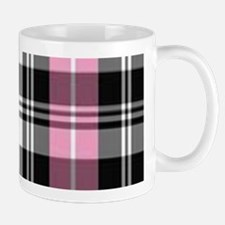 pink & black plaid Mugs