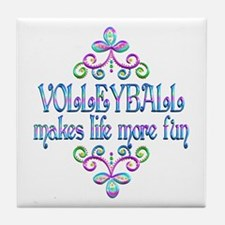 Volleyball Fun Tile Coaster