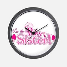 Curly Im The Baby Sister Wall Clock