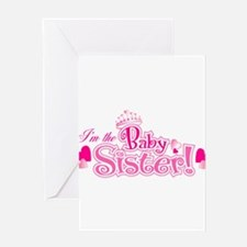 Curly Im The Baby Sister Greeting Cards