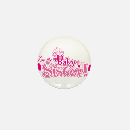 Curly Im The Baby Sister Mini Button (10 pack)