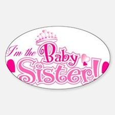 Curly Im The Baby Sister Decal