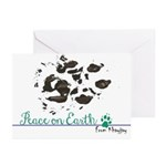 Ccf Cheetah Pawprint 10 Pk Greeting Cards