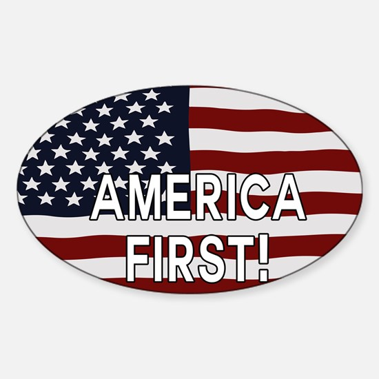 AMERICA FIRST! USA flag Decal