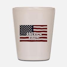 AMERICA FIRST! USA flag Shot Glass