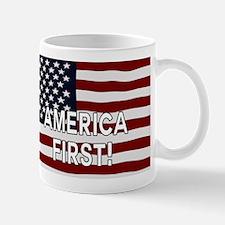 AMERICA FIRST! USA flag Mugs